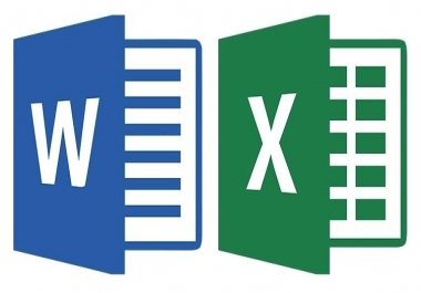 Data entry on Microsoft Office (Word - Excel) with the possibility of computational equations to be the page or chit for $ 10
