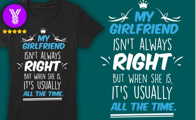I will make a trendy TEESPRING tshirt design with your idea