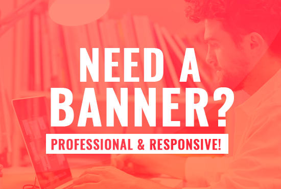 I will do a unique and professional banner for all social medias for $20
