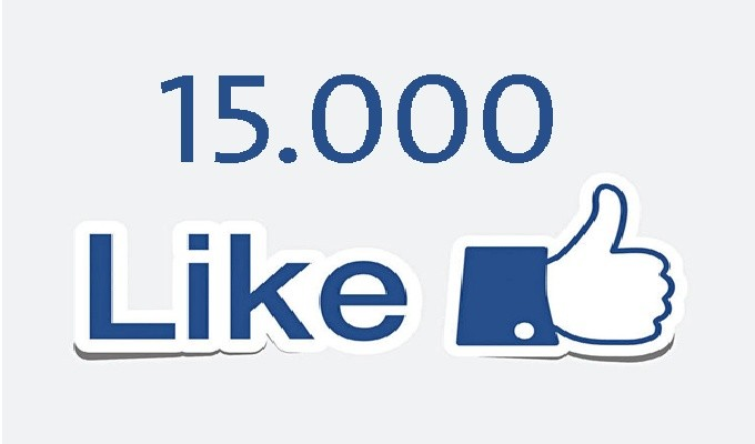 add more than 15,000 like to your page