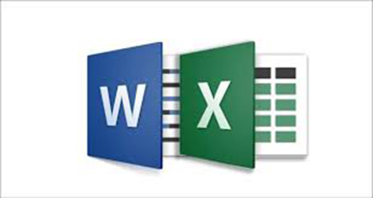 enter data on word or excel