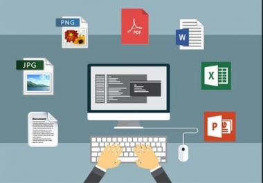 I can enter any data to the word and excel to creat any type of reports.